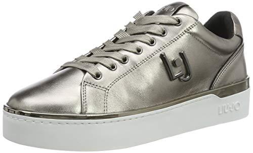 Liu Jo Shoes Silvia 01 Sneaker, Scarpe da Ginnastica Basse Donna, Multicolore (Metallic Pewter 00572), 39 EU