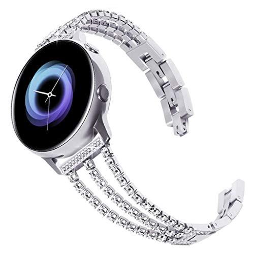 Leiouser Luxus 3 Ketten Diamant Edelstahl Armband Metall Armband Armband Armband Gürtel Kompatibel für Hua-wei GT2/GTGlory Band