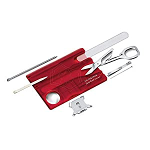 Beauty Shopping Victorinox 0.7240.T Swisscard Nailcare Ruby 81mm Helps You Stay Well-Groomed and Good to Go in VX Red 3.2 inches