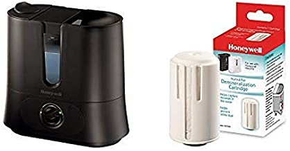 Honeywell Top Fill Cool Mist Humidifier Black Ultra Quiet with Auto Shut-Off, Removeable Tank & Rotating Mist Nozzle for Medium to Large Rooms, Room.