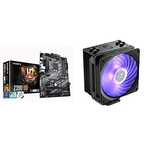GIGABYTE Z390 UD, Intel LGA1151/Z390/ATX/M.2/Realtek ALC887/Realtek 8118 Gaming LAN/HDMI/Gaming Motherboard & Cooler Master Hyper 212 RGB Black Edition CPU Air Cooler, SF120R RGB Fan, Metal Black