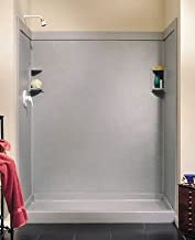 Swanstone SS0369602.011 Solid Surface Glue-Up 2-pieces Shower Wall Panel, 0.25-in L X 36-in H X 96-in H, Tahiti White