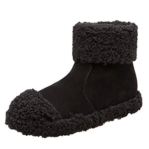 Dames winterschoenen warm gevoerde boots laarzen outdoor winter schoenen vrouwen suède vlakke ronde teen wig schoenen houden warme ritssluiting pluche sneeuwlaarzen