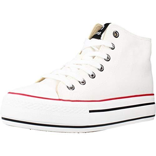 MTNG Collection 69458, Zapatillas para Mujer, Blanco (Canvas White I222) (39)