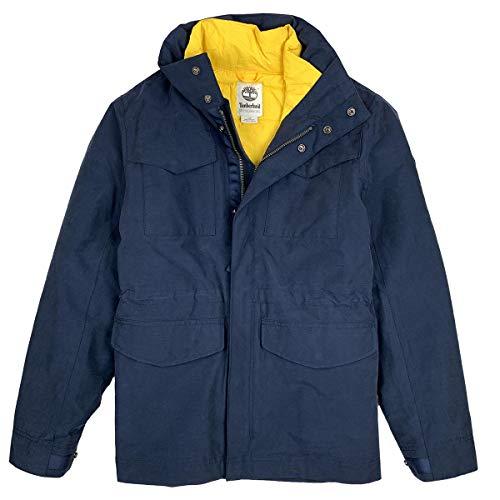 Timberland M Snowdon Peak M65 3-IN-1 Jacket Blau, Herren Daunen Doppeljacke-3-in-1-Jacke, Größe M - Farbe Dress Blues