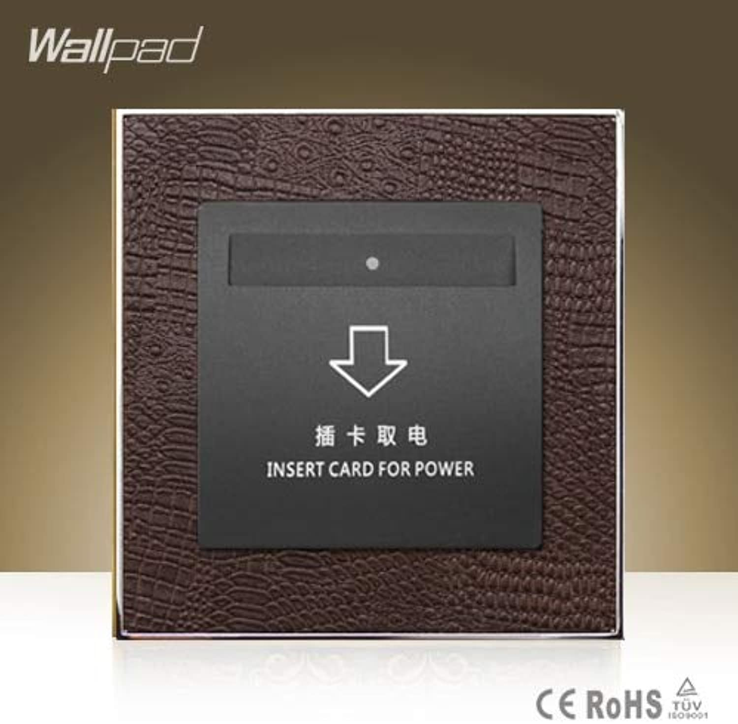 Hot Sale Wallpad Hotel Inserd Card Socket Goats Brown Leather Modular 40A Low Frequency Sensor Card Switch