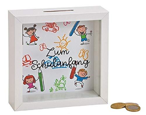 Miss Lovely Spardose/Sparbüchse/Holz-Rahmen ZUM Schulanfang Geschenk-Idee erster Schultag Einschulung ABC-Schützen Junge-n Mädchen Geld-Geschenk