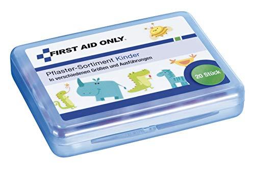 First Aid Only Pflaster-Sortiment, 20 Stück, Kinder, verschiedene Größen und Ausführungen, P-10032,