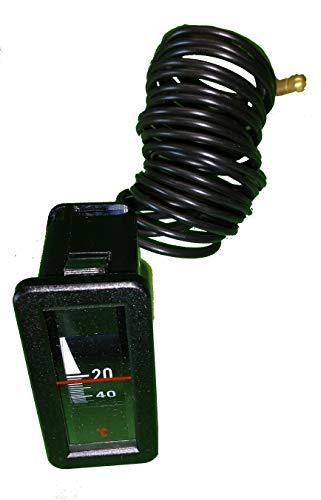 Kessel-Thermometer 25 mm x 58 mm, Einbaulage senkrecht, Anzeigebreich 0-120 °C m. Kapillarleitung 1500mm