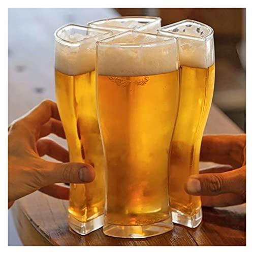 YSJJDRT Juego de Tazas Taza de Cerveza 4 en 1 Acrílico Plástico 4pcs Taza Cerveza Creativa Funny Party Holiday Suministros de cumpleaños Bebida Cerveza Juego Taza para Beber