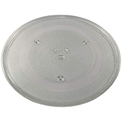 """HQRP 14-1/8 inch Glass Turntable Tray fits Whirlpool W10531726 W11402532 W11358813 KMHS120EBL0 WMH53520CB0 WMH73521CB0 WMH76719CB0 YWMH78019HB0 Microwave Oven Cooking Plate 360mm 14.125"""""""