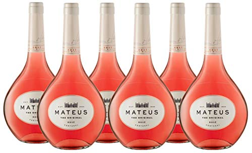Vino Mateus Rosé Original - 6 botellas de 750 ml - Total: 4500 ml