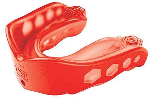 Shock Doctor Youth Gel - Protección de boca de fútbol infantil, tamaño Joven, color rojo