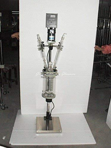 Reactor químico de laboratorio de 2 L impulsado por motor, reacción hervidor de agua