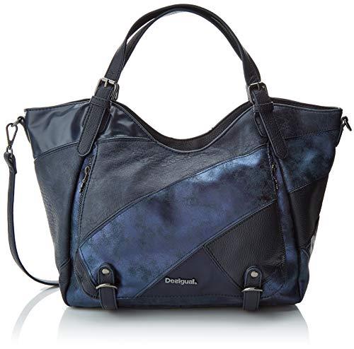Desigual - Bols_priya_rotterdam, Shoppers y bolsos de hombro Mujer, Azul (Navy), 15x30x31...
