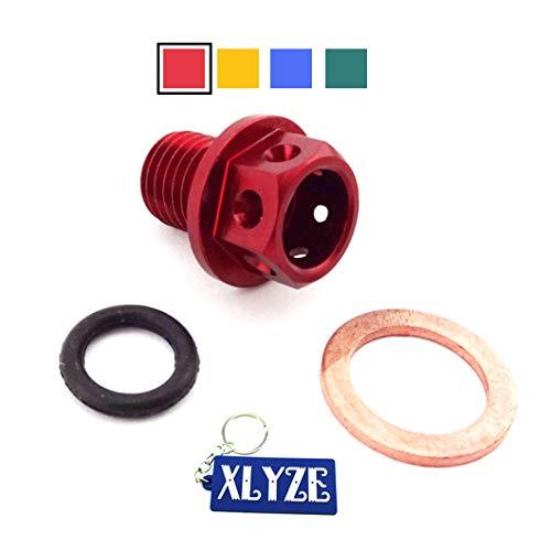 XLYZE Motor Magnético Tapón de Drenaje de Aceite Tornillo Tuerca Tornillo Lavadora Rojo para chino 50cc 70cc 90cc 110cc 125cc Pit Pro Dirt Mono Bicicleta ATV Quad Lifan YX Zongshen Loncin