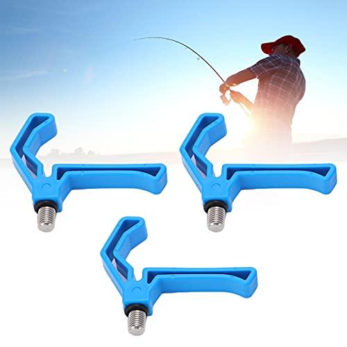 Pinsofy Angelrutenhalter Greifer, Angelrutenhalter Halterung Leichtes Angelwerkzeug Angelrutenstütze Ständerwerkzeug für Outdoor zum Angeln(Blau)