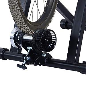 HOMCOM Rodillo Entrenamiento Bicicleta Acero Cicloentrenador Negro Bici Interior Ciclismo