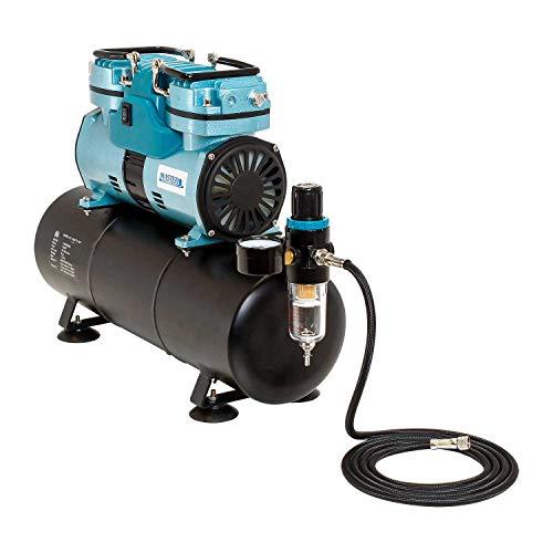 Master Airbrush TC-96T   1/4 hp Twin Cylinder Piston Air Compressor