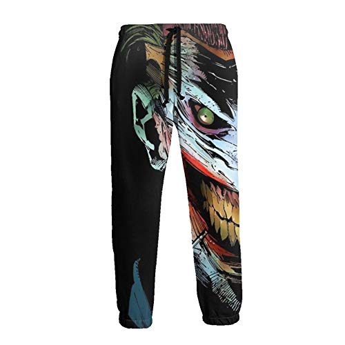WJJSXKA The Joker Mens Pants 3D Print Sweatpants Loose Fit Joggers Baggy Pants with Drawstring