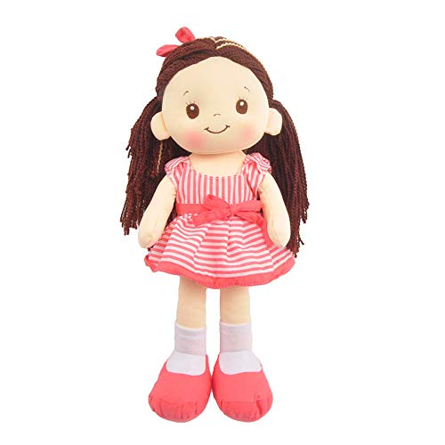 Linzy Plush 16' Coral Pink Lacy Doll Soft Rag Doll