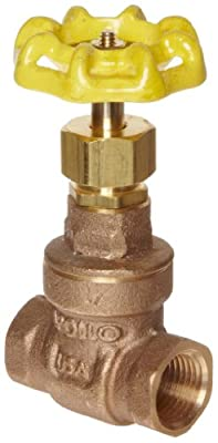 "Apollo 102T Series Bronze Gate Valve, Class 125, Non-Rising Stem, 1-1/2"" NPT Female from Conbraco Industries"