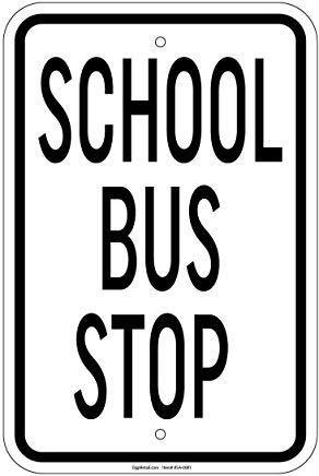 Metallschilder für Schule und Bushaltestellen von Privateigentum, 20,3 x 30,5 cm