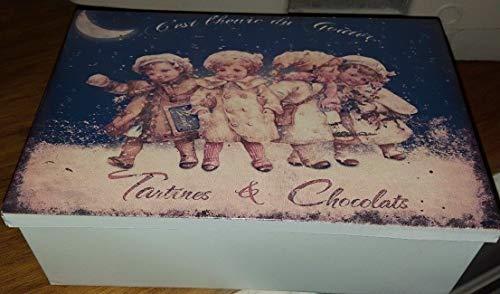 Antic Line Boite a Sucre « tartines et chocolats »