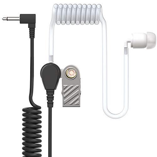 Ohrhörer Schallschlauch - 3,5mm Klinke - One Ear - transparent inkl. Halteclip - Kopfhörer Headset für Funkgeräte
