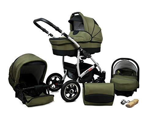 Cochecito de bebe 3 en 1 2 en 1 Trio Isofix silla de paseo New L-Go by SaintBaby Olive Black 3in1 con Silla de coche