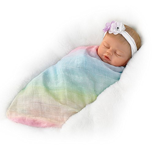 The Ashton - Drake Galleries Violet Parker Collectible Lifelike Weighted Baby Doll with Swaddle