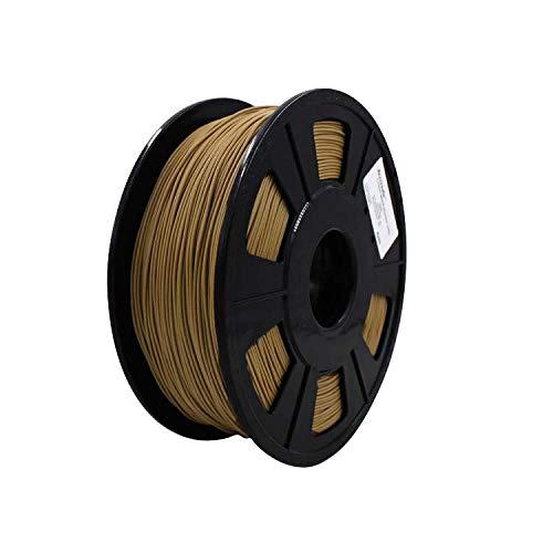 Weistek Filamento PLA da 1,75 mm, Filamento per stampante 3D, Precisione dimensionale +/- 0,03 mm, Bobina da 1,1 LBS (0,5 KG), Filamento per stampanti 3D, Legno scuro