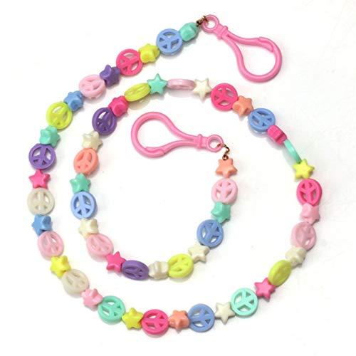 Lurrose Kinder Brillen Ketten Kreative Perlen Brillen Lanyard Bunte Brillenhalter für Frauen Männer Mädchen Jungen