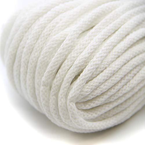 NTS Nähtechnik 50m Baumwollkordel mit Kern 6mm breit (weiß)
