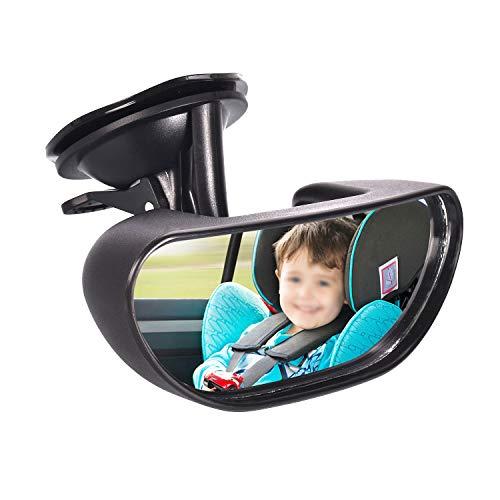 Rücksitzspiegel für Baby, 360° Einstellbar Auto Rückspiegel Kinder Spiegel Auto Babys Babyschalenspiegel Babyspiegel Rücksitzspiegel Baby Auto Babysitz Spiegel Autospiegel mit Saugnäpfe für Babyschale
