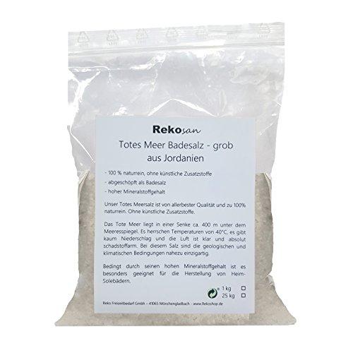 Rekosan Totes Meer Salz 1 kg Badesalz aus Jordanien Meersalz grob