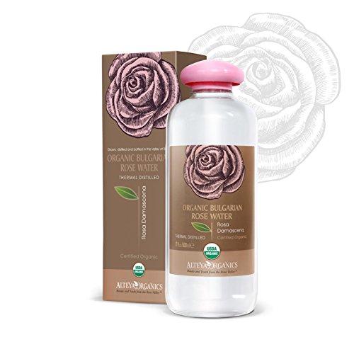 Alteya Organic Acqua di Rosa Bulgara 500 ml – 100% USDA Certificata Organica Pura Bio Acqua di Rosa Damascena in bottiglia grande preparata di petali di rosa freschi