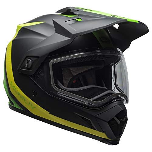 Bell MX-9 Adventure Switchback Mens Snowmobile Helmets - Black/Green - Medium