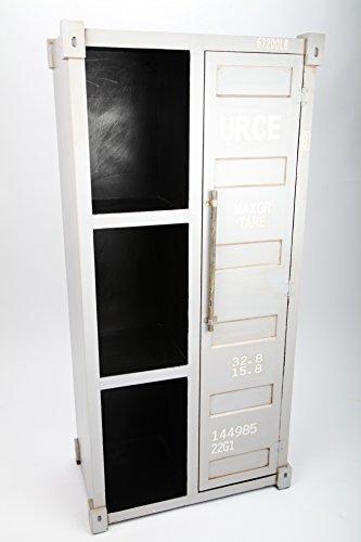 point home Design-Schrank Container, Retro, grau, 112 cm