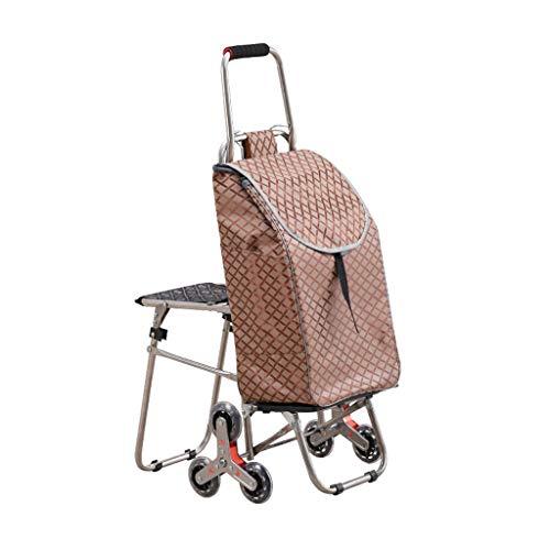 BQSWYD Carro Plegable de Mano Creative Can Climb The Stairs Carrito de la Compra Portátil Plegable Carrito de la Compra Se Puede sentar Personas Carrito Ligero Carrito de la Compra