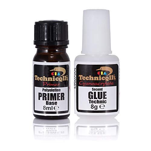 Super Glue para plástico 8ml+8g Pegamento Extra Fuerte de Cianocrilato Fabricación y reparación de PP PE PTFE Teflon...