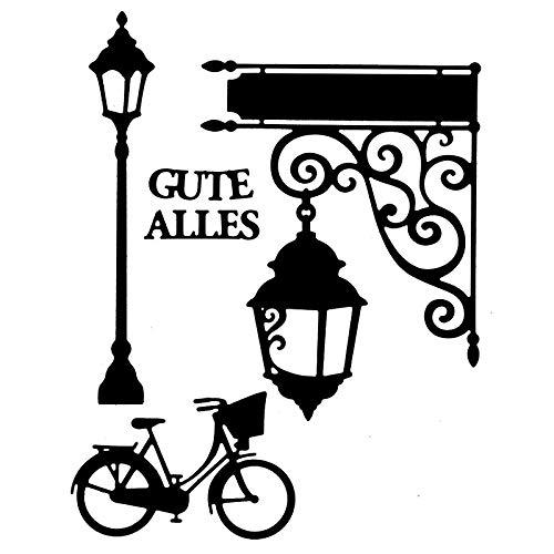 Stanzschablonen | Laterne & Fahrrad | 4 Stück | Verschiedene Größen | Passend für gängige Stanzmaschinen | Schablone zum Gestalten von Grußkarten, Einlegern | Geburtstag, Weihnachten, Jubiläum