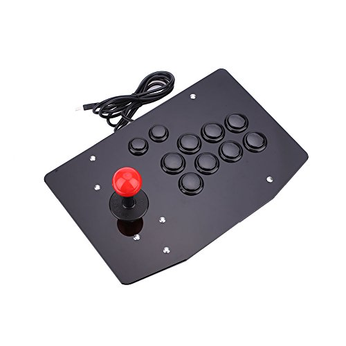ゲームパッドビデオゲームPC 用 Cewaal USBアーケード戦いスティックジョイスティックゲームコントローラ