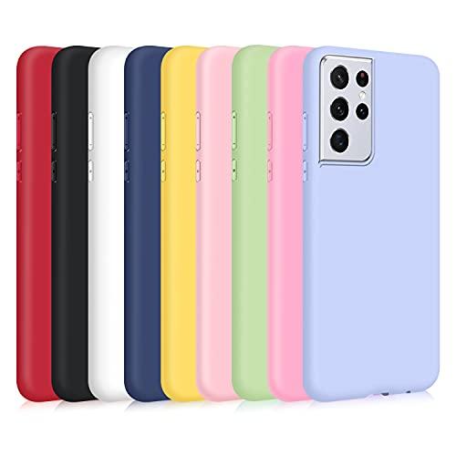 9X Funda para Samsung Galaxy S21 Ultra 5G Funda Protectora de TPU Gel Suave Carcasa Anti-Choques y Anti-Arañazos Slim Fit Flexible Soft TPU Gel Bumper Compatible con Samsung Galaxy S21 Ultra 5G Funda