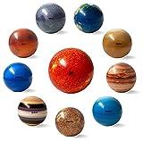 Ocho planetas del sistema solar y la luna, bolas antiestrés de juguete para niños y adultos, planetas del sistema solar, bolas hinchables, bolas para aliviar el estrés, que alivian la ansiedad