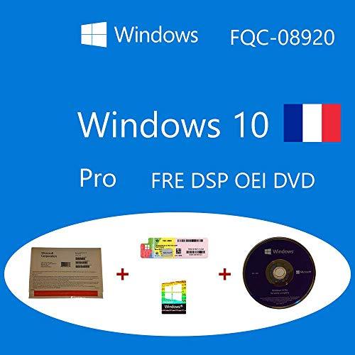 Windows 10 Pro OEM FQC-08920 Français DSP OEI OEM DVD + COA holographique - Pack Clanto