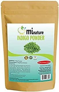 Natural Indigo Powder 2pk -Indigofera Tinctoria, Rajasthani Indigo Powder for hair dye, Natural hair color by mi nature