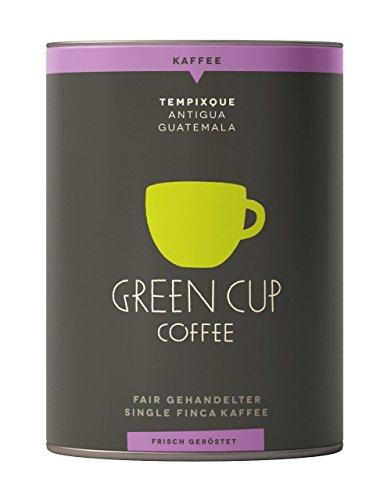 Green Cup Coffee Kaffee Tempixque - Hochlandkaffee aus Guatemala - sortenreine Kaffeebohnen in Premium Qualität - Bohnen Mild mit starken Aromen und feiner Süße - 227g Dose gemahlen