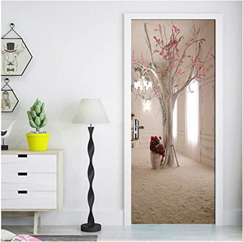 3D creatieve fantastische bloem boom kroonluchter deursticker decoratie woonkamer studie slaapkamer meisjes kamer kinderkamer PVC afneembare DIY 90x200cm