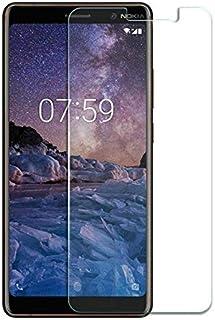 شاشة حماية لموبايل نوكيا 7 بلس بدون انحناء، شفافة